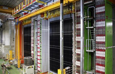 イタリアの地下でニュートリノをとらえた名古屋大などの検出器(フランス国立科学研究センター提供)