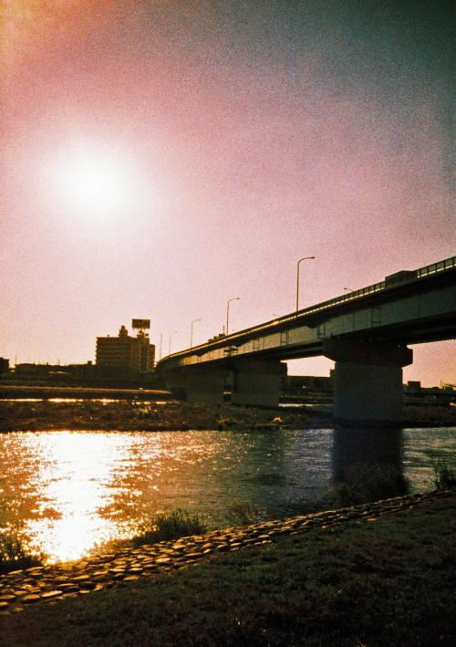 re+多摩川 橋 夕陽000014_convert_20101205062804