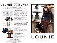 LOUNIE(ルーニィ)2011 秋 公式カタログGETしました! 2011年秋の新作、ルーニィのテレビCM放送も2011秋versionが9月放送予定!ルーニィマニアのみなさん、またまた要チェックです!^^☆