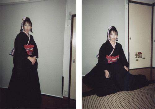 ゴスロリ風着物ドレス