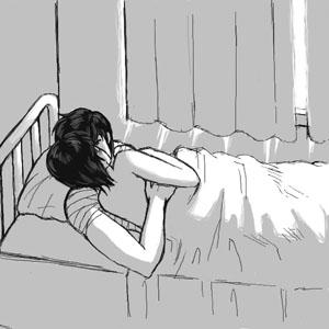 病室でキス