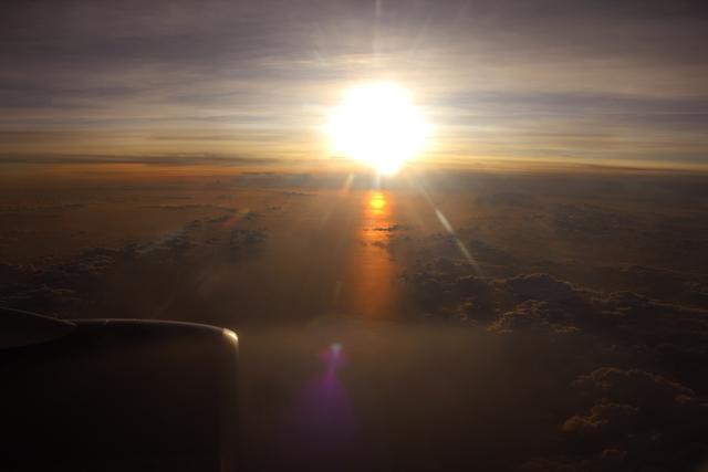 空から見た空