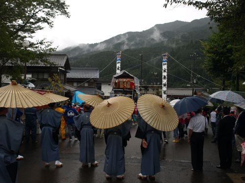 4雨の秋祭り1