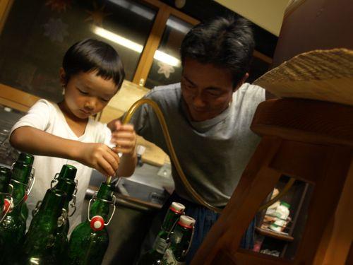 8U太と自ビール2