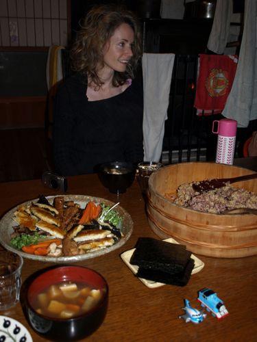 1セシリアと手巻き寿司