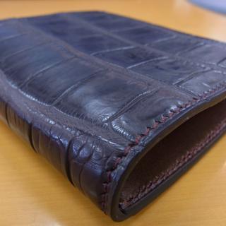 万双 クロコダイルミニ財布