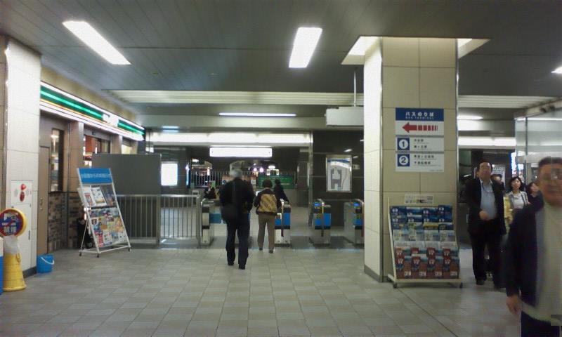 道順① 経堂駅に到着。まず改札を出て―