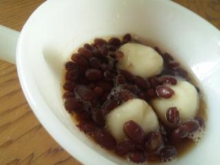 小豆と白玉だんご♪