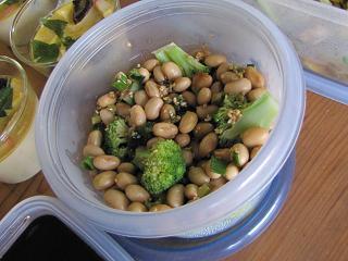 大豆とブロッコリーナムル
