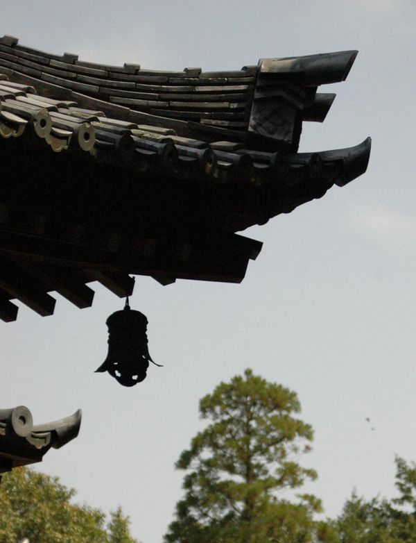 秋篠寺本堂屋根2