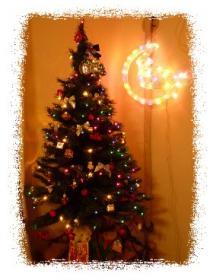 12月 クリスマス飾り ライト付けバージョン