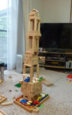 積み木のお城