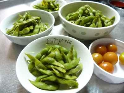 枝豆晩御飯