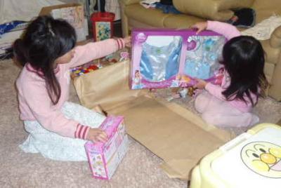 クリスマスープレゼントオープン