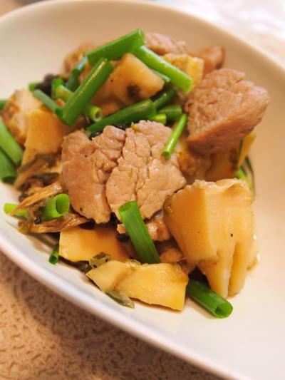 竹の子と豚ヒレの煮物エスニック風
