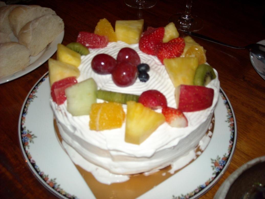 ケーキ果物