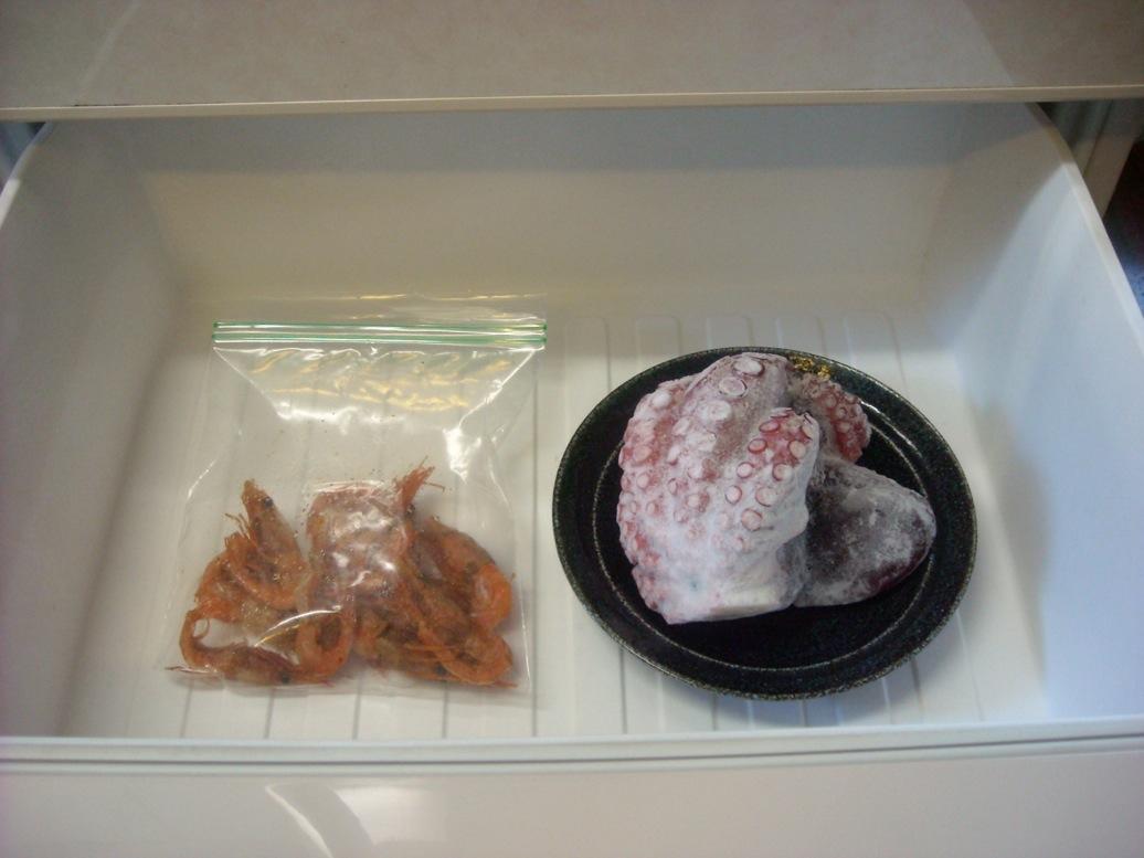 冷凍室タコ