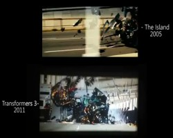 Transformers 3 scene from The Island