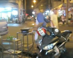 PATTAYA THAILAND WOK COOKING ON STREET SIDE