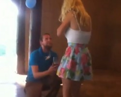 Girl Faints From Romantic Marriage Proposal