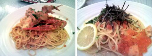 渡り蟹のトマトクリーム&秋鮭のペペロンチーノ