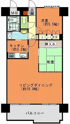 朝日プラザ高松多賀町502間取り図改造2