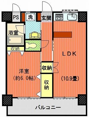 ダイアパレス築地704間取り図改造モデル