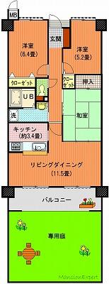 アルファステイツ太田102間取り図