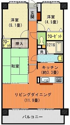 ダイアパレス太田第3202間取り図
