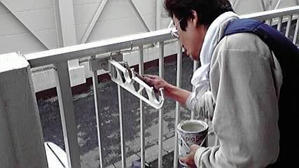 物干し台塗装