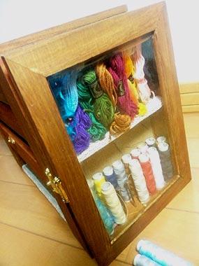 据え置き裁縫箱3
