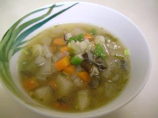 野菜たっぷりの手羽先スープ ブログ3