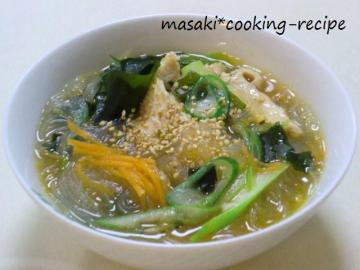 110421食べる春雨スープ