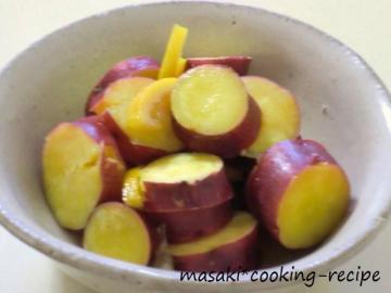 110928さつま芋のレモン煮