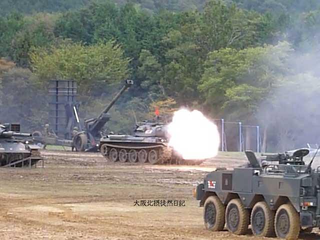 101031_福知山駐屯地創立60周年記念行事_74式戦車