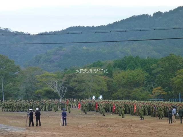 101031_福知山駐屯地創立60周年記念行事_整列