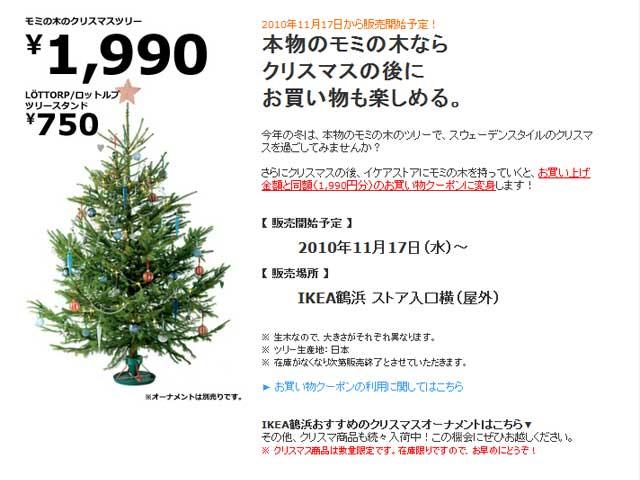 101128_IKEA鶴浜_本物のモミの木なら