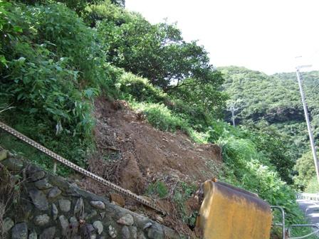 土砂に埋まったモノラック