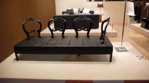 ベンチ背が椅子