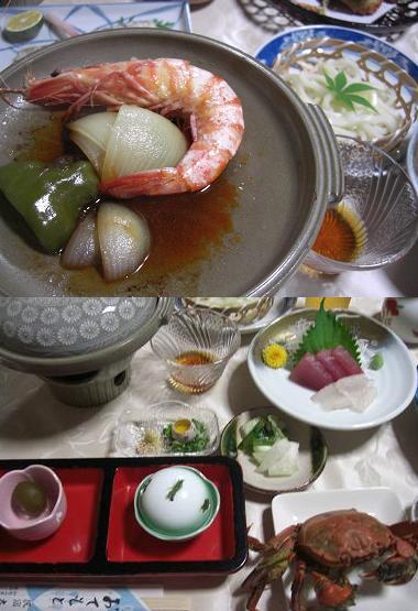 温泉民宿料理1