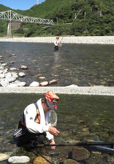 熊野川・鮎つり名人