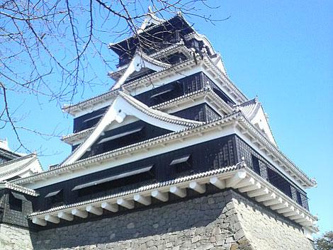 下から眺める熊本城
