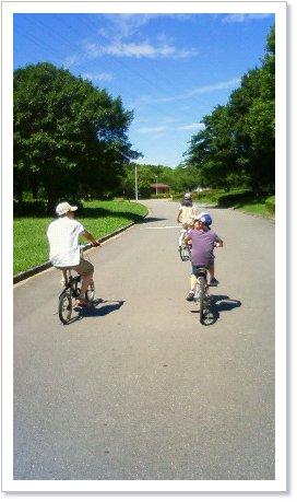 家族でサイクリング♪