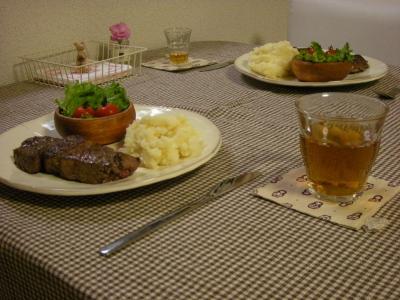 ステーキの晩ごはん3_convert_20091011152132