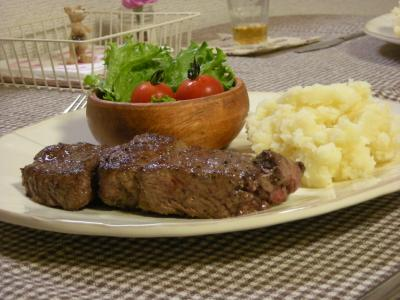 ステーキの晩ごはん2_convert_20091011152119