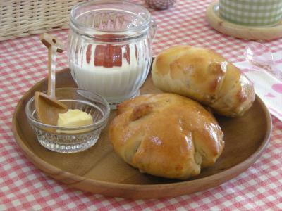 くるみパンで朝ごはん_convert_20091020110917