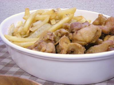 クミン風味の塩唐揚げとポテト_convert_20091022114041