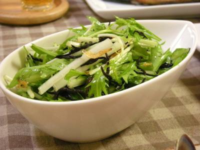 水菜とひじきのサラダ_convert_20091027133847
