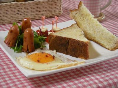 ローソンのパンで朝ごはん_convert_20091101161217