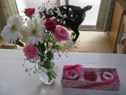 お花と・・